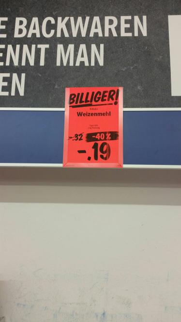 Mehl 1 Kg 0.19 Cent Lidl.Detmolderstr.550 Bielefeld-Hillegossen