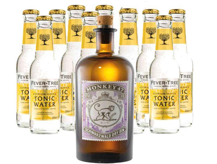[AYF] Monkey 47 Schwarzwald Dry Gin 47% mit 10 Fever Tree für 36,89€