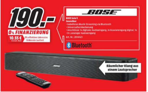 [Lokal] Bose Solo 5 für 190€ im Media Markt Castrop-Rauxel/Bochum