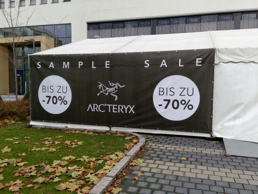 (lokal Garching bei München) Arcteryx Sample Sale bis -70%