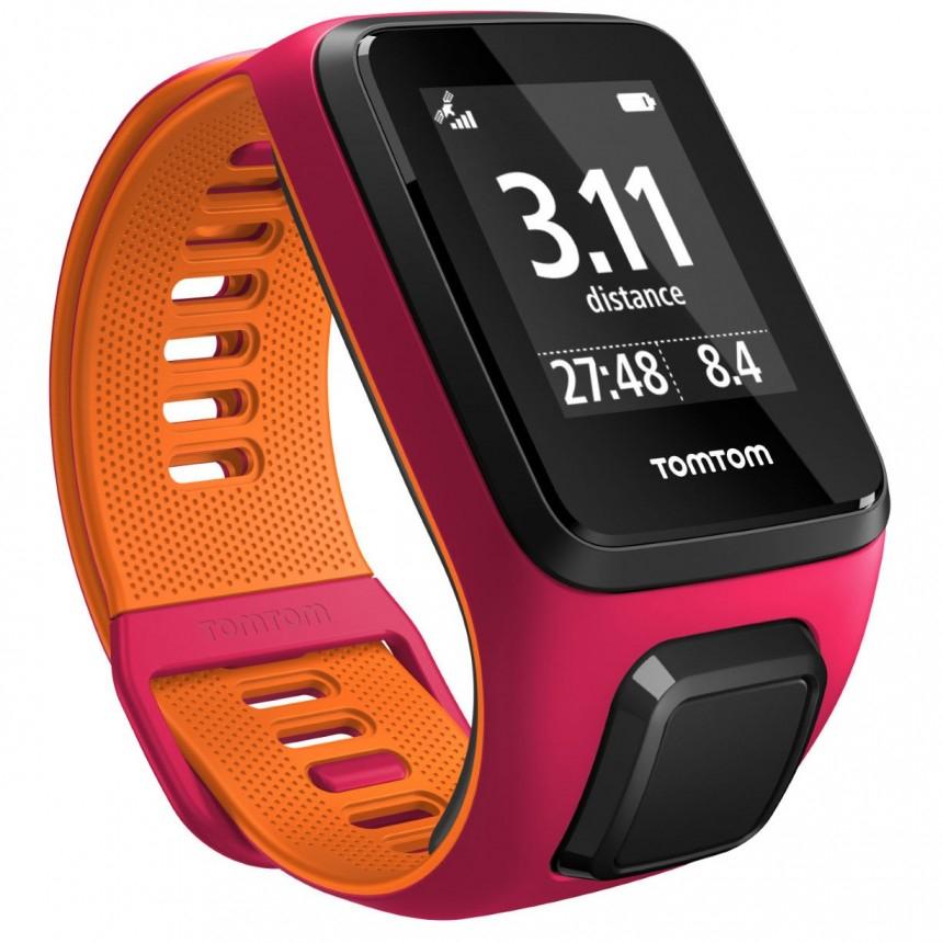 TomTom Runner 3 GPS Sports Watch - Dark Pink / Orange - S für 112,30EUR inkl. VSK