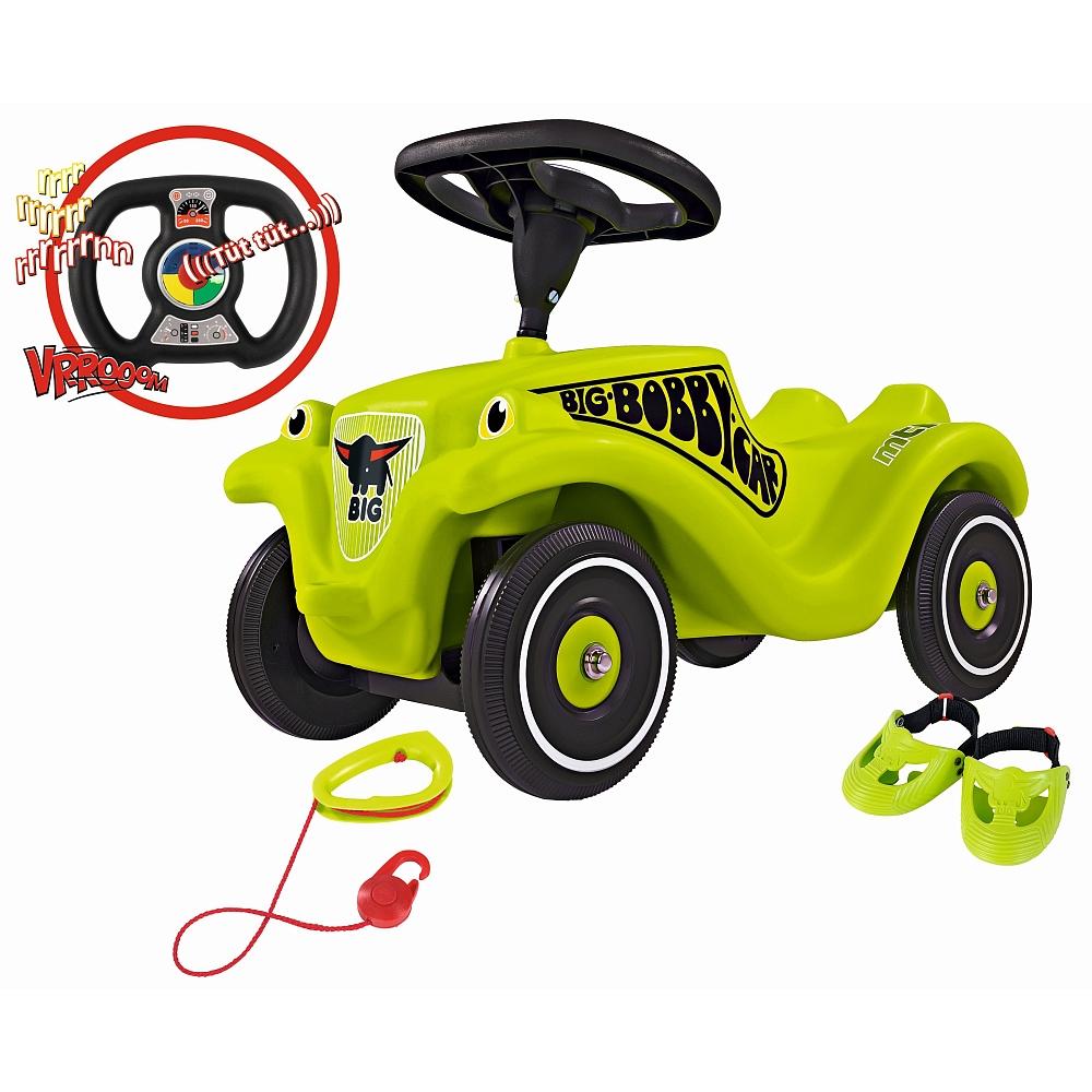 [ToysRus] BIG - Bobby Car: Megapack mit Zugseil, Schuhschonern und Licht- und Soundlenkrad, grün