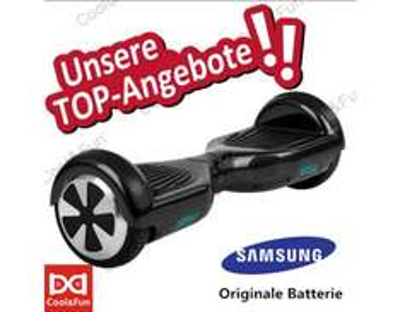 [ALLYOUNEED] Smart Self Balance Elektro Scooter 6,5 Zoll 2 Wheels Hoverboard Schwarz für 184 €