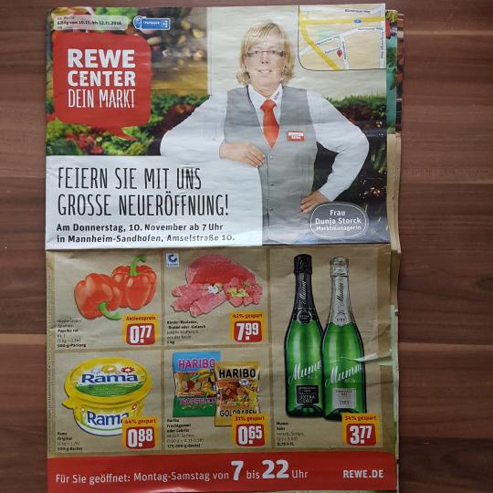 [ Lokal REWE Center Mannheim-Sandhofen ] Diverse Neueröffnungsangebote