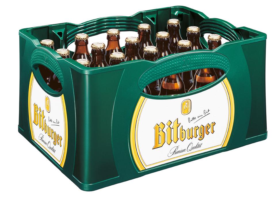 [Globus]  2 Kästen Bitburger Stubbi, 2 x 20 x 0,33, plus Bitburger Brotzeitbrettchen für 15 Euro
