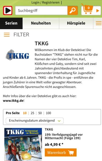 [ hoerspiel.de] TKKG Folgen für 3.99 €