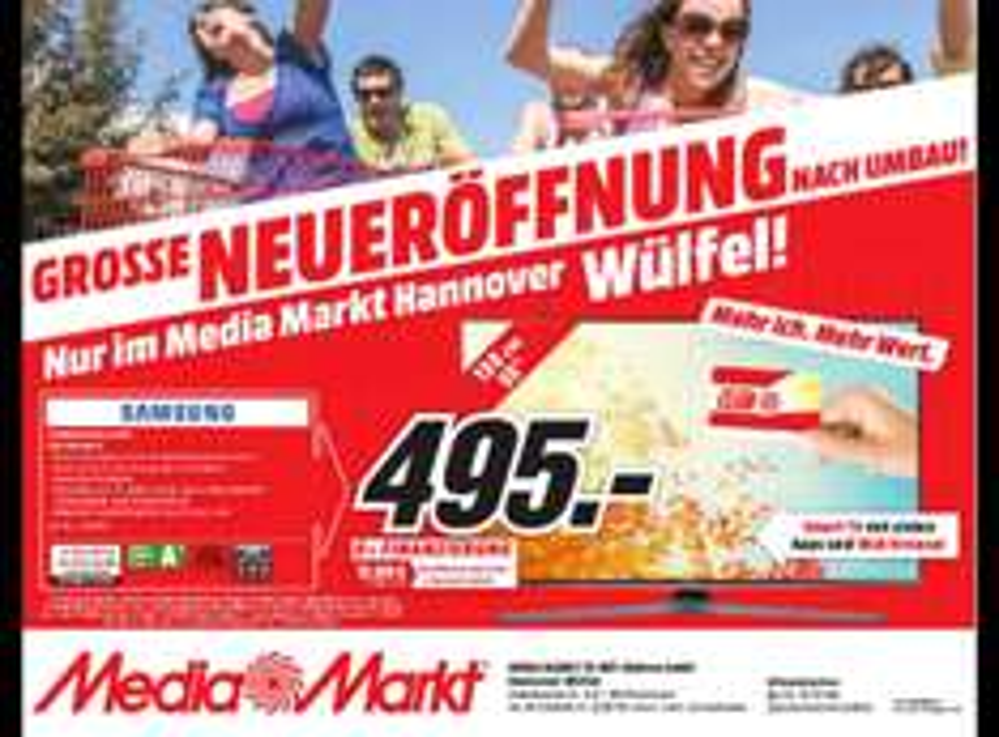 [Lokal] Samsung UE55J6289 @Mediamarkt Hannover-Wülfel (PVG 589,00€)