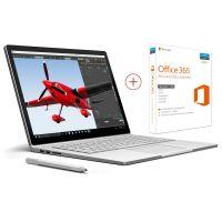 Microsoft Surface Book (13,5 3000x2000 IPS Touch, i5-6300U, 8GB RAM, 128GB SSD, Digitizer, bel. Tastatur, 1,5kg inkl. Keyboard-Dock, Win 10 Pro) + Office 365 für 1303,99€ - 75€ durch Payback = ~1229€ [Cyberport]