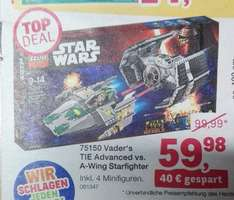 (ToysRUs) ab 14.11. Top Deal - LEGO Star Wars 75150 Vaders TIE Advanced vs. A-Wing Starfighter