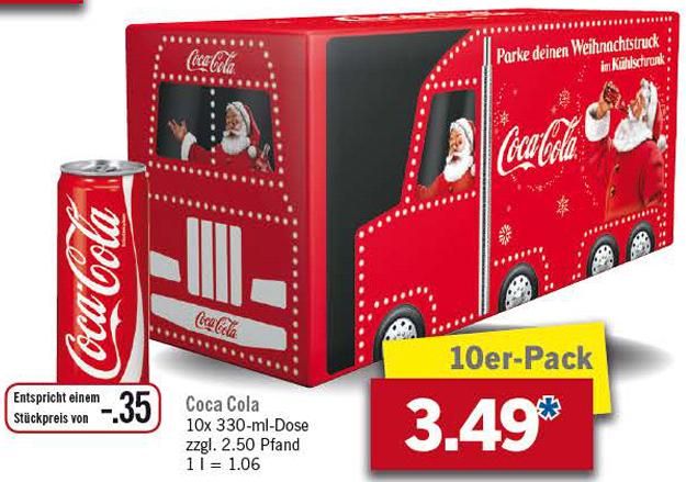 [Lidl] Coca Cola 10x0,33l ab 14.11.