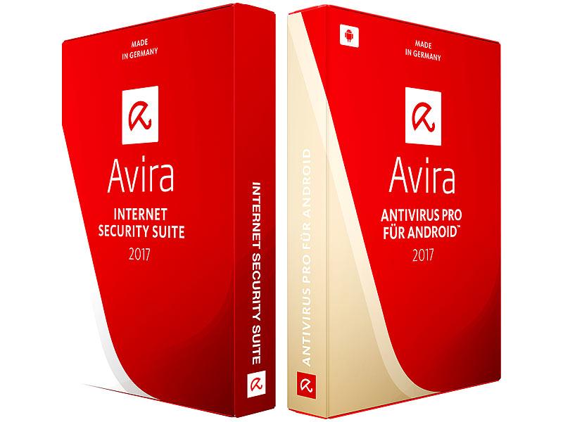 Avira Internet Security Suite 2017 für Windows & Android kostenlos bei Pearl.