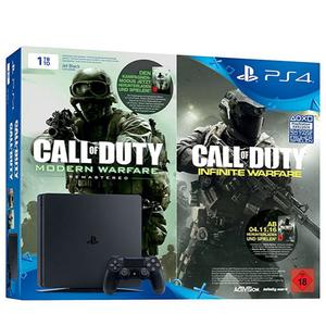 Sony, PS4 Slim - Konsole 1TB, inklusive Downloadcode Call of Duty: Infinite Warfare Legacy Edition