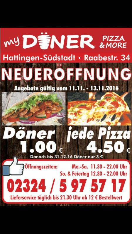 Neueröffnung myDöner in Hattingen - Döner für 1 Euro