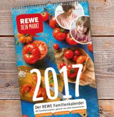 [REWE] Familienkalender 2017 (inkl. Payback Coupons)