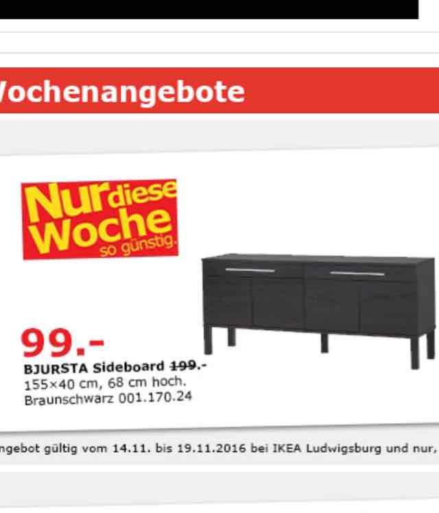 IKEA Bjursta Sideboard 50% günstiger in Ludwigsburg