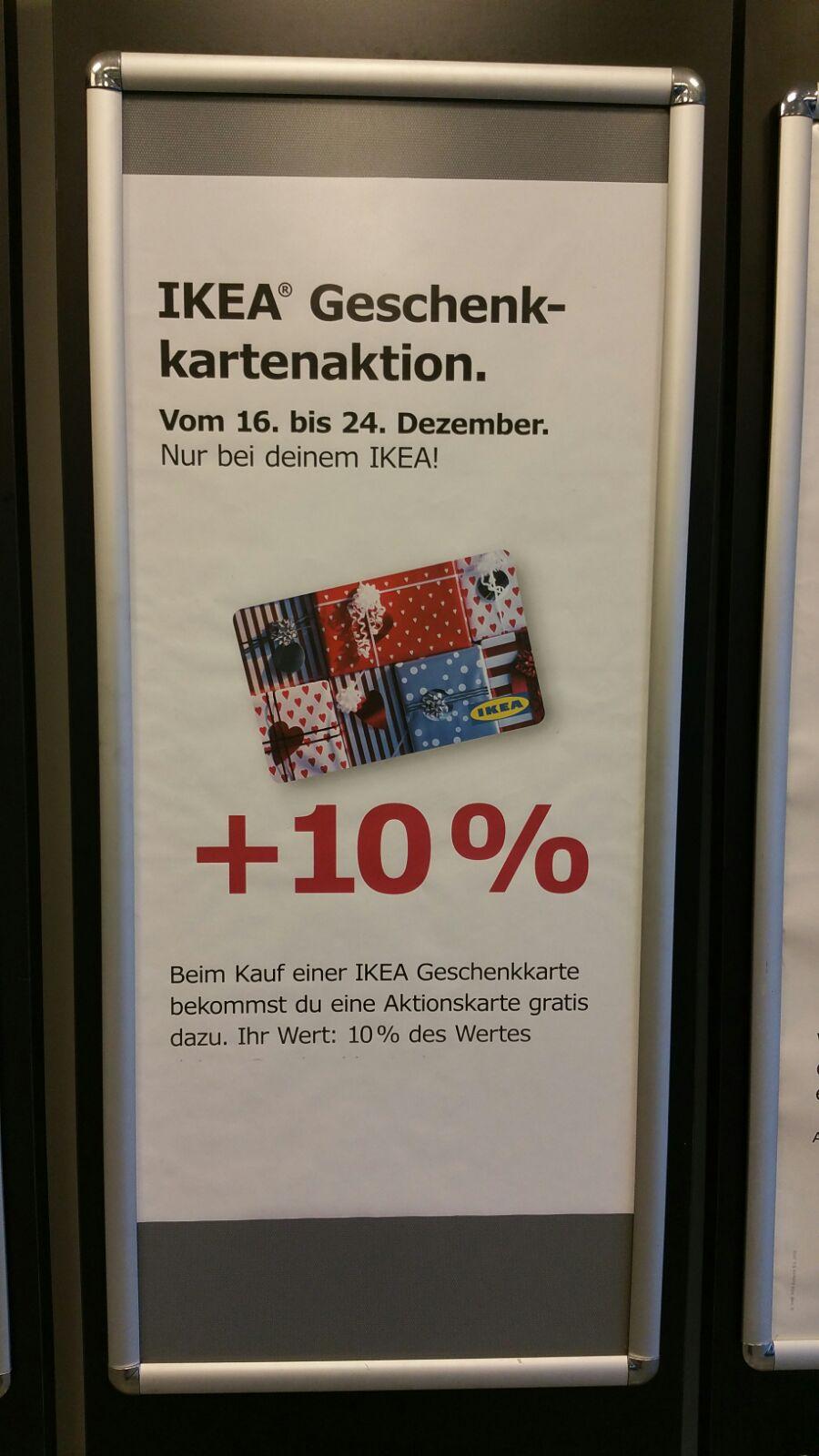 [ Local ] IKEA Saarlouis - Geschenkkartenaktion (10% Gratis Aktionskarte)