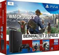 PlayStation 4 (PS4) 1TB + Watch Dogs + Watch Dogs 2