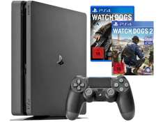 SONY PLAYSTATION 4 KONSOLE SLIM 1TB + WATCH_DOGS 1 + WATCH_DOGS 2