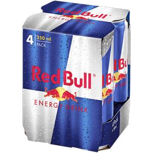 REWE Red Bull 4er Pack für 3,33€ (Dose 250ml = 0,83€) + Pfand