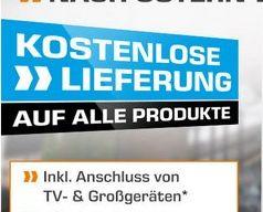 Kostenlose Lieferung für ALLE Produkte. Für TV- und Großgeräte inkl. Anschluss [Saturn ab 14.11.2016]