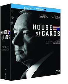 House of cards Staffel 1-4(Blu ray ) für 30,45 amazon.fr