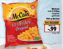 [Kaufland Bundesweit ab Donnerstag] McCain 1-2-3 Frites Original -750Gramm Beutel für 0,99€ **Ohne Coupon**