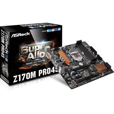 ASRock Z170M Pro4S Mainboard (NBB / Masterpass)