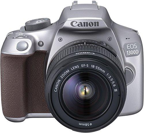 Canon EOS 1300D Digitale Spiegelreflexkamera (18 Megapixel, APS-C CMOS-Sensor, WLAN mit NFC, Full-HD ) Kit inkl. EF-S 18-55mm III Objektiv silber statt 357€ Idealo