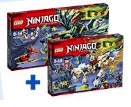 Lego Ninjago 70736 Angriff des Morro-Drachen + 70734 Meister Wus Drache für 79,98€ bei [ToysRUs]