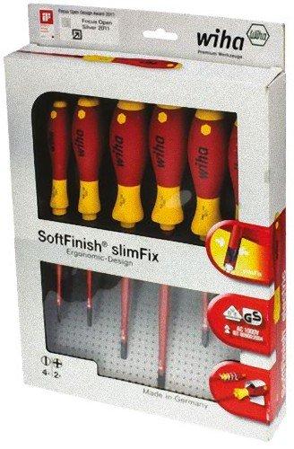 Wiha SoftFinish® electric slimFix Schlitz/Phillips Schraubendrehersatz, - 3201K6 - 6-tlg [AMAZON]