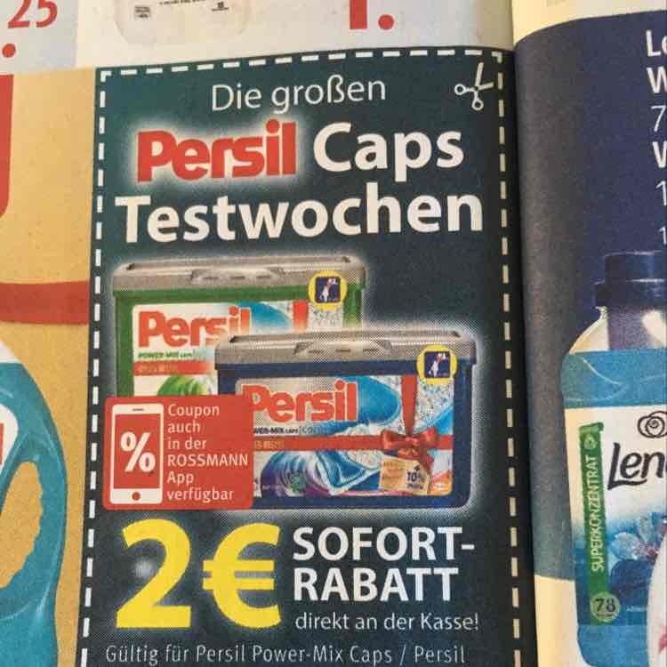 Persil Caps für 2,99€ bei Rossmann dank 2€ Rabatt Coupon
