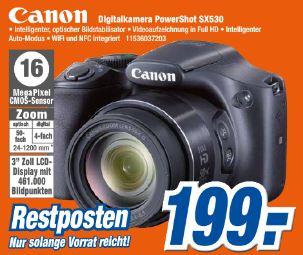 [Expert klein] CANON Bridge- bzw. Superzoomkamera PowerShot SX530 schwarz
