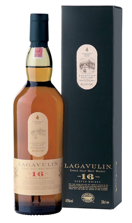 Ein paar günstige Whiskys bei Amazon, z.B. Lagavulin 16 Jahre Islay Single Malt Whisky 0,7l für 39,16€