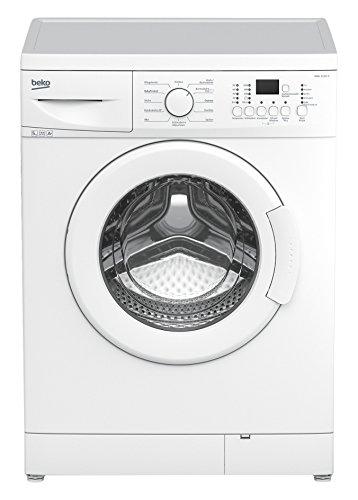 Beko WML 51431 E Waschmaschine Frontlader / A+ B / 0.688 kWh / 1400 UpM / 5 kg / Großes Programmauswahl / weiß [Energieklasse A+]