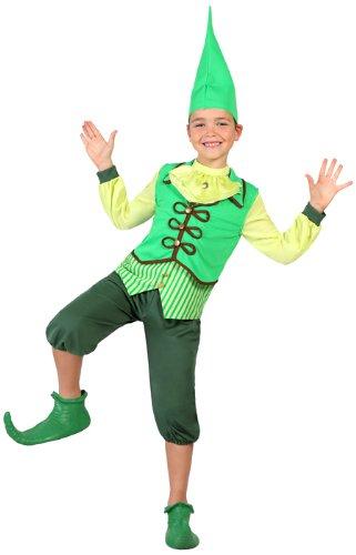 Atosa 23686 - Kobold Junge Kostüm, Größe 140, grün