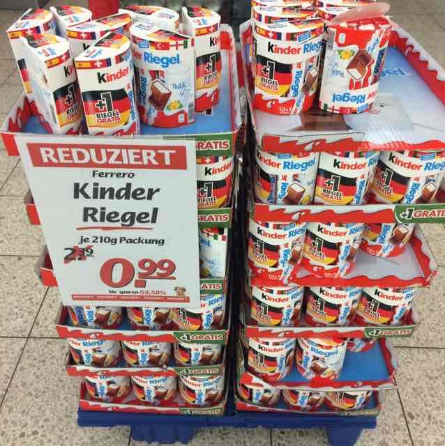 Marktkauf Ostfildern Kinder Riegel 11er (231g) zu je 0,99 €