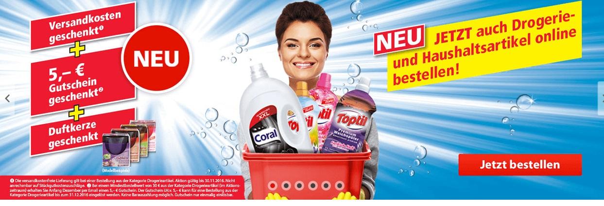 NORMA24 Online Shop Aktion Gratis Versand + Gratis Duftkerze + (5 Euro Gutschein ab 30€ Bestellwert.)