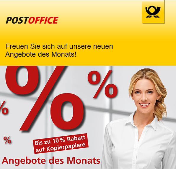 Bis zu 30% auf Bürobedarf und noch mehr tolle Aktionen im Postoffice Shop