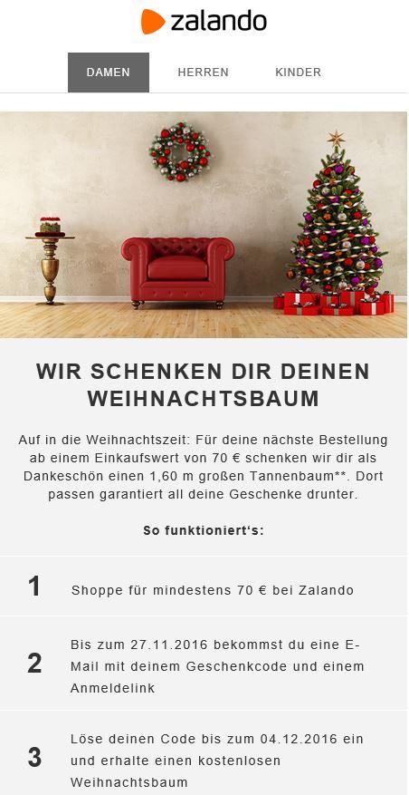 Weihnachtsbaum geschenkt