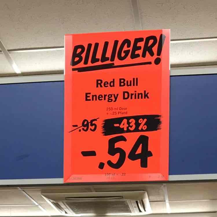 RedBull 250ml bei Lidl für 54cent [Lokal Neuss-Kaarst]