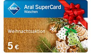 Aral Supercard 10€ kaufen, 5€ Waschen gratis