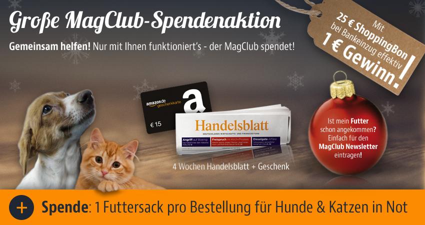 HANDELSBLATT 4 Wochen Testabo mit 1 € Gewinn + gespendeter Futtersack für Tierschutzverein
