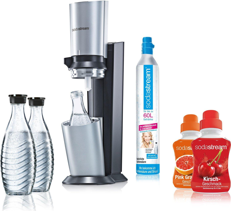 SodaStream Crystal Super-Sparpack (3 Glaskaraffen, 2x Sirup, 60l-Zylinder) für 94,95€ [Allyouneed]