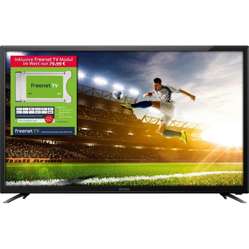 Dyon Movie 32 - 32 Zoll TV, Full-HD, DVB-T/?-T2-C/?-S/?-S2 HEVC, VESA, 3x HDMI [inkl. freenet-TV Modul -> für 60€ verkaufbar -> ~ 130€]