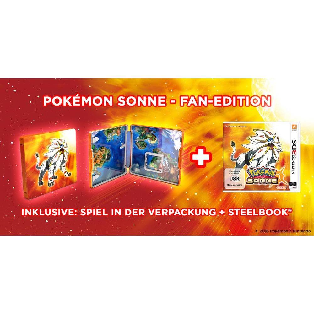 Pokemon Sonne oder Mond als Steelbook- (Fan-)Edition für jeweils ~40€ [Conrad]