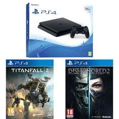 (Amazon.co.uk) Sony PlayStation 4 Slim + Titanfall 2 + Dishonored 2? für 318,29€