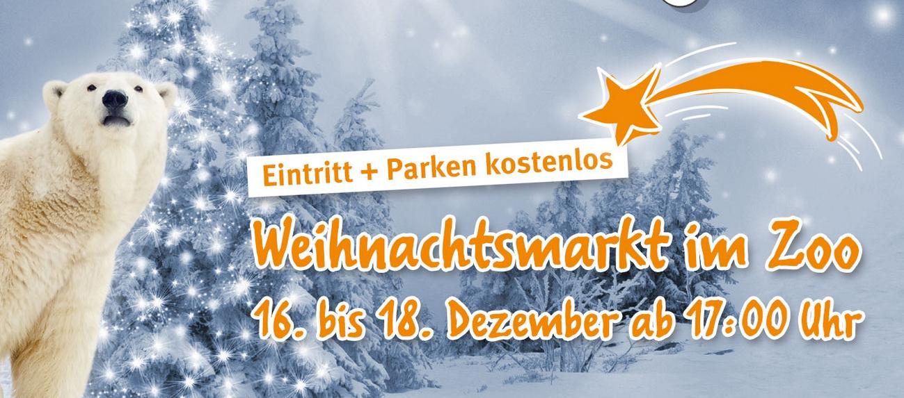 Freier Eintritt in die Zoom Erlebniswelt! - Weihnachtsmarkt im Zoo Gelsenkirchen (16.-18.12. jeweils ab 17 Uhr)