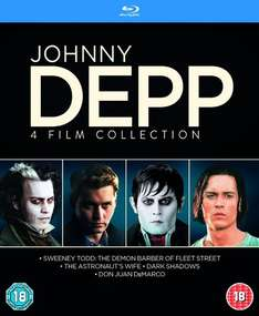 (Zavvi) Johnny Depp Collection (4x Blu-ray) für 9,35€