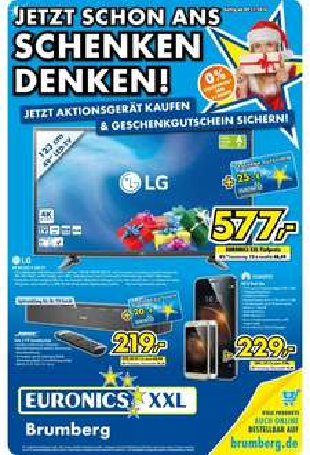 "[LOKAL] Euronics/ Brumberg Kamen und Menden (Sauerland) Samsung 48""-LED-TV und interessante Prospekt-Artikel"