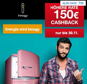 150€ Shoop Cashback + 100€ Online Bonus für den Stromabschluss als Neukunde bei innogy (RWE Group)